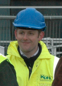 Craig's first day on site