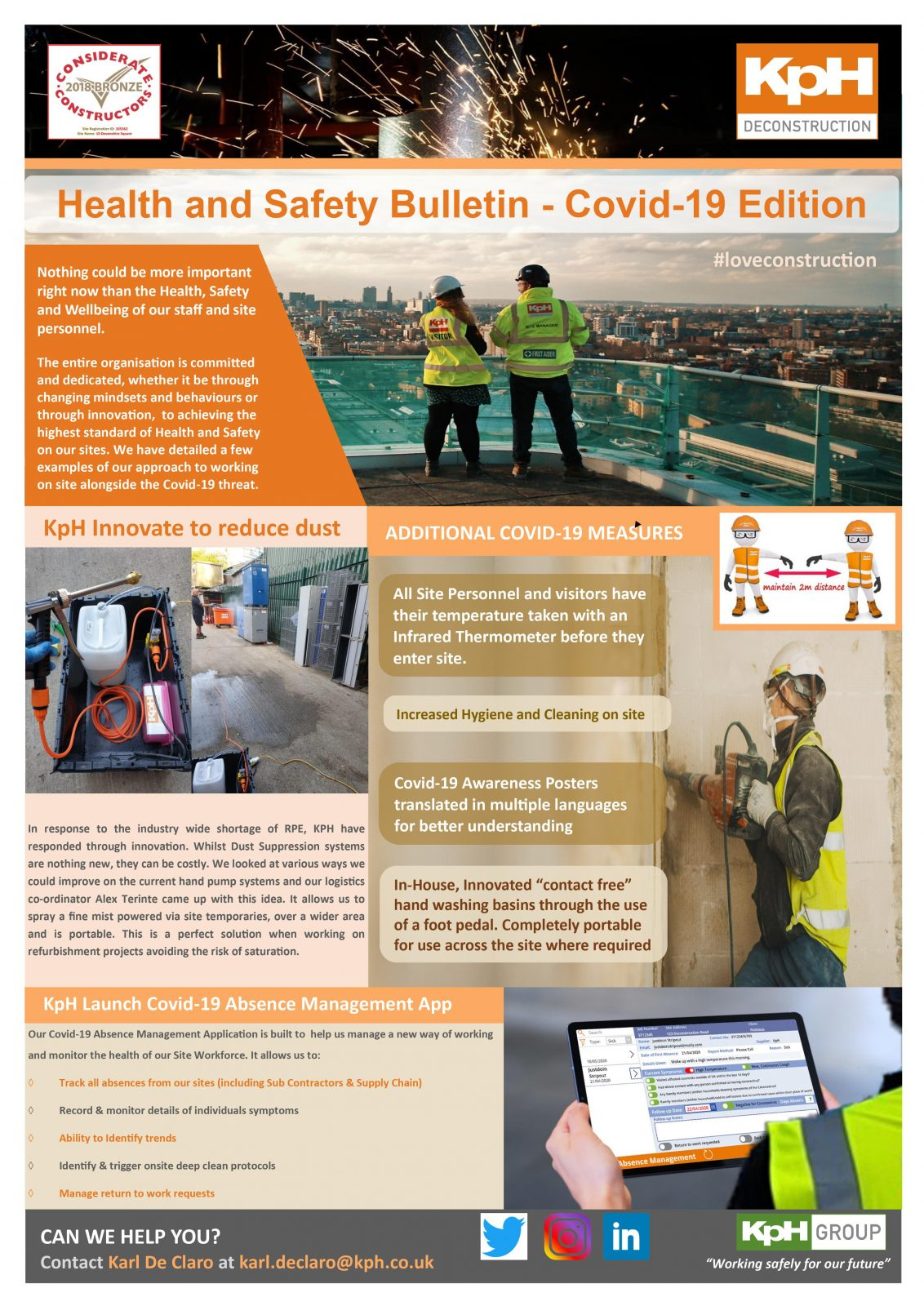 Health and Safety Bulletin - Covid-19 Edition